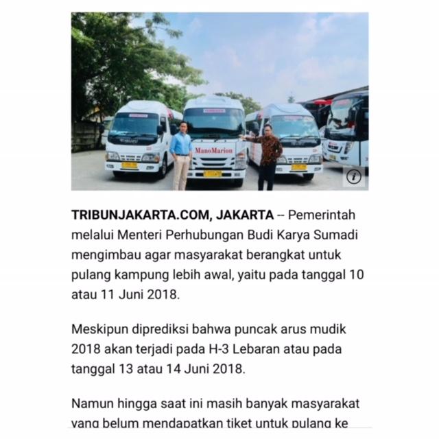 marion hutagalung dan manola hutagalung pemilik manomarion transport di majalah tribunnews